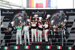 Podium AM-Class: 1. #87 AKKA ASP, Mercedes-AMG GT3: Jean-Luc Beaubelique, Maurice Ricci, Gilles Vann
