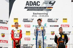 Podium: second place Mick Schumacher, Prema Powerteam ; Winner Mike David Ortmann, Mücke Motorsport; third place Joseph Mawson, Van Amersfoort Racing