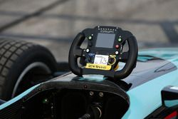 Dalton Kellett, Andretti Autosport, steering wheel detail