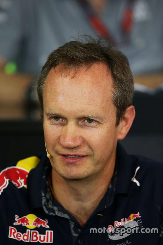 Paul Monaghan, Red Bull Racing Chief Engineer in de persconferentie