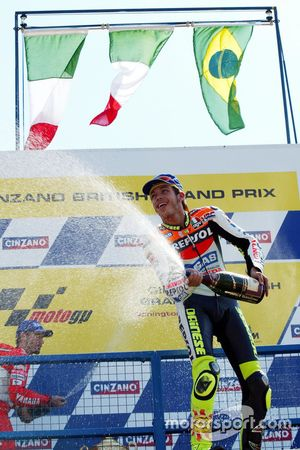 Podium: winner Valentino Rossi, Honda Team