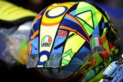 Valentino Rossi, Yamaha Factory Racing, mit Marco Simoncellis Nummer 58 auf seinem Helm