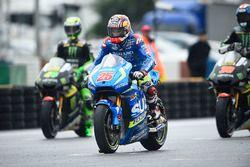 Maverick Viñales, Team Suzuki MotoGP on the grid