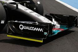Détails du nez de la Mercedes AMG F1 W06 Hybrid