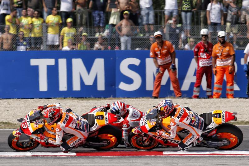 Marc Márquez, Repsol Honda Team, Andrea Dovizioso, Ducati Team, Dani Pedrosa, Repsol Honda Team