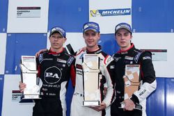 Podium: race winner Matteo Cairoli, second place Mattia Drudi, third place Mikael Grenier