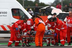 Loris Baz, Avintia Racing, después de su choque