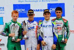 DJKM Rennen 1: 1. Dennis Hauger; 2. Victor Martins; 3. Oscar Piastri; 4. Charles Milesi