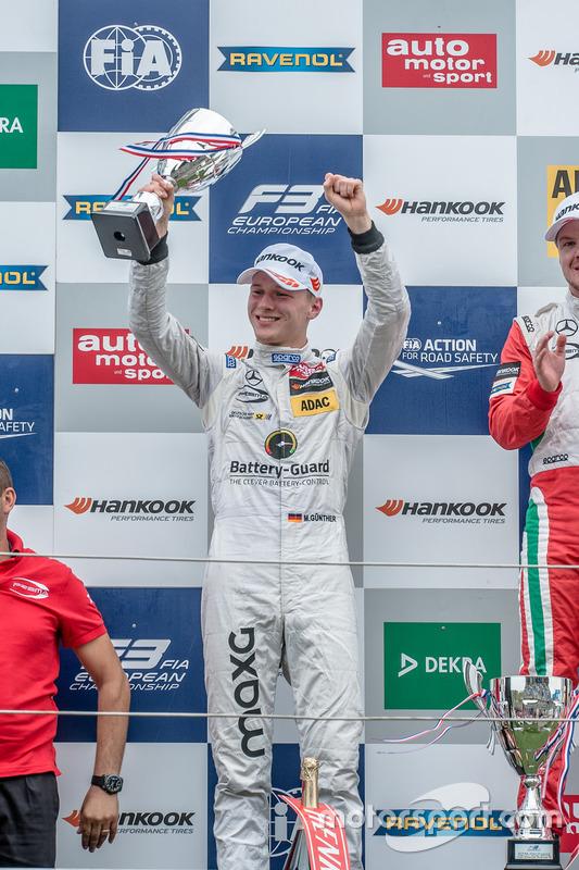 Podium: Maximilian Günther, Prema Powerteam, Dallara F312 - Mercedes-Benz