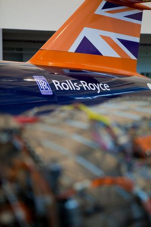 BloodhoundSSC ve Rolls-Royce Motoru