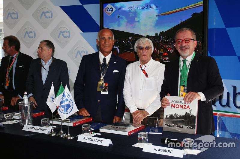 (Da sx a dx): Jean Todt, Presidente FIA con il Dr. Angelo Sticchi Damiani, Presidente Aci Csai; Bern