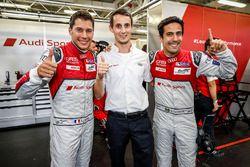 Pole position : #8 Audi Sport Team Joest Audi R18 e-tron quattro: Lucas di Grassi, Loic Duval, Oliver Jarvis