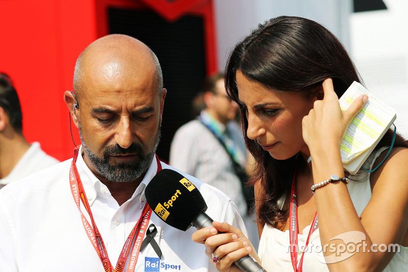 (L to R): Ivan Capelli, President of ACI Milano with Giorgia Cardinaletti, RAI Television Presenter