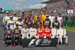 La photo de famille de début de saison des pilotes