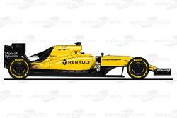 imágen final del Renault RS16