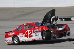 Kyle Larson, Chip Ganassi Racing Chevrolet accident
