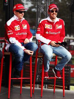 Kimi Raikkonen, Ferrari and Sebastian Vettel Ferrari