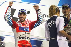 Podium: tweede Andrea Dovizioso, Ducati Team