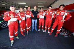 Overall polesitters #51 AF Corse Ferrari 488 GT3: Pasin Lathouras, Michele Rugolo, Alessandro Pier G