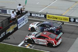 Start: #43 RealTime Racing Acura TLX-GT: Ryan Eversley, #05 Always Evolving Racing Nissan GT-R-GT 3: