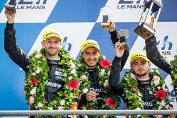Podium LMP2 : les deuxièmes #26 G-Drive Racing Oreca 05 Nissan: Roman Rusinov, Will Stevens, René Rast