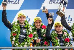 LMP2 podium: second place #26 G-Drive Racing Oreca 05 Nissan: Roman Rusinov, Will Stevens, René Rast