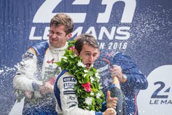 LMP2 podium: champagne celebrations