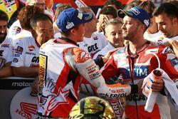 Le vainqueur Marc Marquez, Repsol Honda Team, le second Andrea Dovizioso, Ducati Team