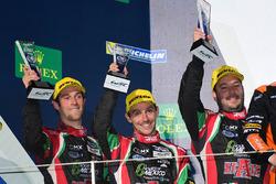 Podium LMP2: second place #43 RGR Sport by Morand Ligier JSP2 - Nissan: Ricardo Gonzalez, Filipe Albuquerque, Bruno Senna