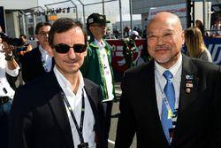 Pierre Fillon, président de l'Automobile Club De l'Ouest, Yojiro Terada, ambassadeur de l'ACO