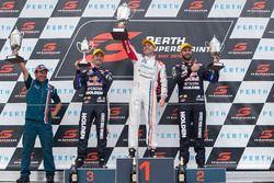 Podium: winner Mark Winterbottom, Prodrive Racing Australia Ford, second place Scott McLaughlin, Garry Rogers Motorsport Volvo, third place Craig Lowndes, Triple Eight Race Engineering Holden