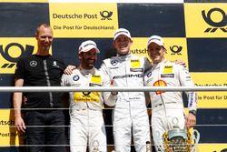 Podium: 2nd Timo Glock, BMW Team RMG, BMW M4 DTM; 1st Paul Di Resta, Mercedes-AMG Team HWA, Mercedes-AMG C63 DTM; 3rd Augusto Farfus, BMW Team MTEK, BMW M4 DTM
