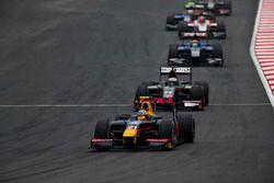 Pierre Gasly, PREMA Racing leads Gustav Malja, Rapax
