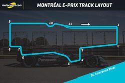 Montréal E-Prix track layout
