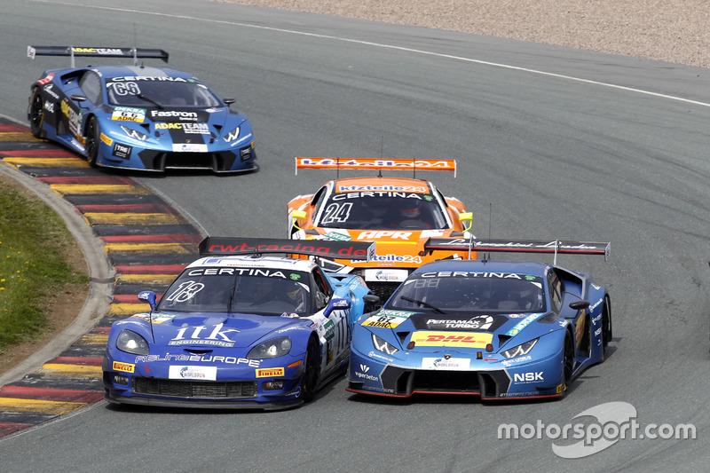#13 RWT Racing, Corvette Z06.R GT3: Remo Lips, Sven Barth; #67 Attempto Racing Team, Lamborghini Hur