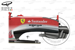 Ferrari SF16-H opened chassis, side view