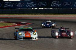 #86 Gulf Racing, Porsche 911 RSR: Michael Wainwright, Adam Carroll, Ben Barker; #13 Rebellion Racing