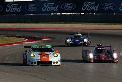 #86 Gulf Racing Porsche 911 RSR: Michael Wainwright, Adam Carroll, Ben Barker; #13 Rebellion Racing