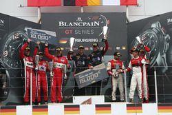 Podio PRO-AM Cup: ganadores#66 Black Pearl Racing, Ferrari 458 Italia GT3: Steve Parrow, Alexander M