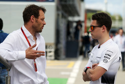 (L to R): Alex Wurz, Williams Driver Mentor / GPDA Chairman with Stoffel Vandoorne, McLaren Test and Reserve Driver