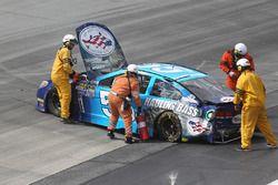 La voiture de Reed Sorenson, Chevrolet, après un crash