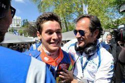 Alessio Lorandi, Carlin Dallara F312 – Volkswagen, and his father Sandro Lorandi