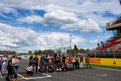 Los medios de comunicación para la foto de clase de GP3 series