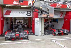 Audi Sport Team Joest atmósfera de garaje