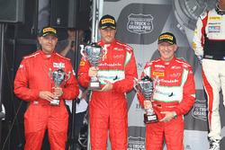 Podio Am: ganador #55 AF Corse: Ferrari 458 Italia GT3: Claudio Sdanewitsch, Stéphane Lemeret