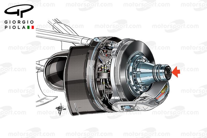 Haas VF16 brake duct