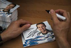 Autógrafo de tarjetas de Sébastien Ogier, Volkswagen Polo WRC, Volkswagen Motorsport