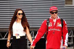 Kimi Räikkönen, Ferrari mit seiner Frau Minttu Virtanen