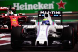 Sebastian Vettel, Ferrari SF16-H follows Felipe Massa, Williams FW38