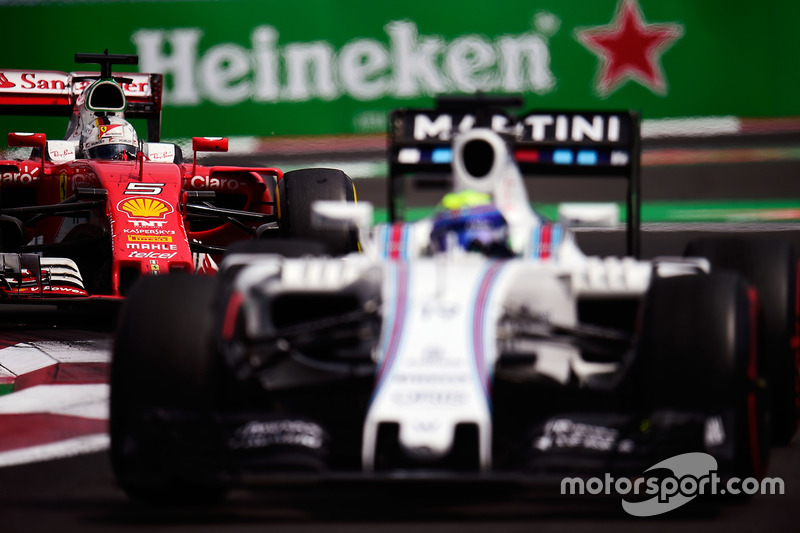 Sebastian Vettel, Ferrari SF16-H y Felipe Massa, Williams FW38